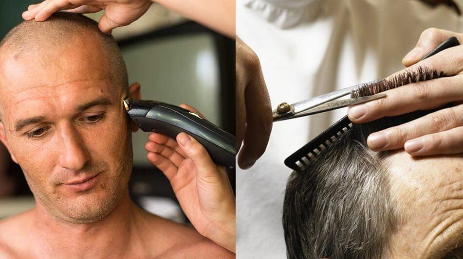 corte de cabelo para usar micropigmentação capilar